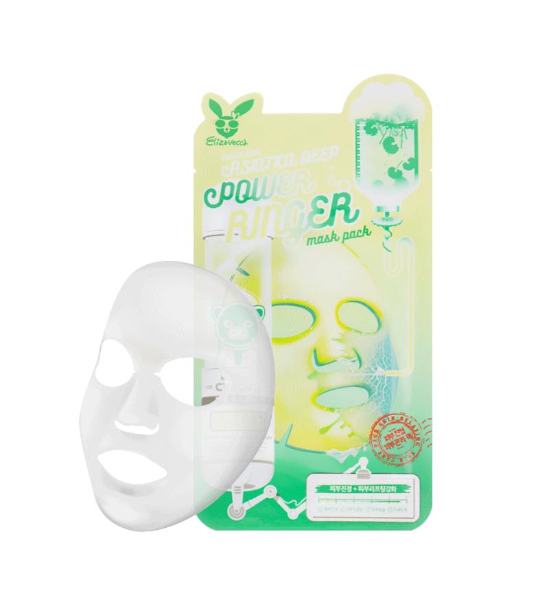 ELIZAVECCA Тканевая маска д/лица ЦЕНТЕЛЛА CENTELLA ASIATICA DEEP POWER Ringer 1 шт