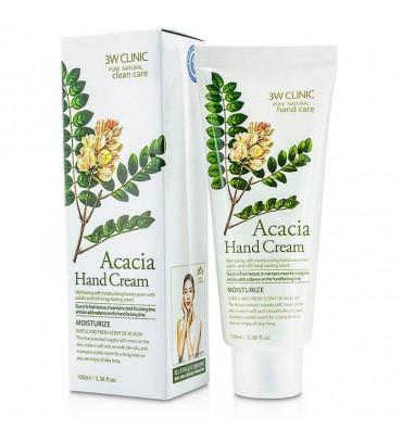 3W CLINIC Acacia Hand Cream Крем для рук зволожуючий з екстрактом акації, 100 мл