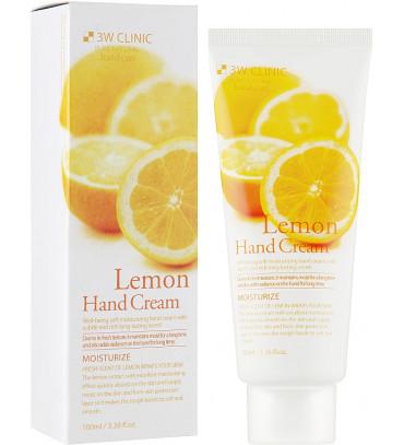3W CLINIC Lemon Hand Cream Крем для рук зволожувальний з екстрактом лимона, 100 мл