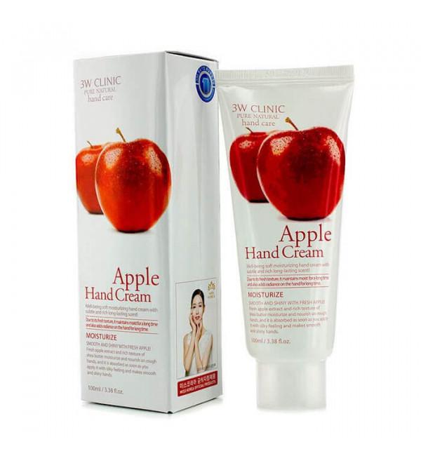 3W CLINIC Apple Hand Cream Крем для рук зволожуючий відновлювальний з екстрактом яблука, 100 мл
