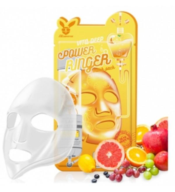 ELIZAVECCA  НАБОР/Тканевая маска д/лица с Витаминами VITA DEEP POWER Ringer mask pack, 10 шт