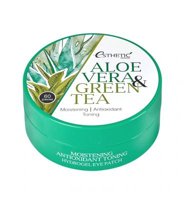 ESTHETIC HOUSE Aloe Vera&Green Tea Hydrogel Eye Patch Патчі під очі гідрогелеві, 60 шт х 1,4 гр