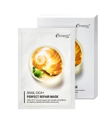 ESTHETIC HOUSE Snail Cica+ Perfect Repair Mask Набір Маска для обличчя тканинна Муцин, 25мл х 5 шт