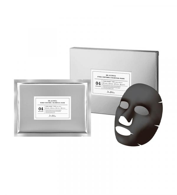 DR. ALTHEA Pore-Control Charcoal Mask Маска для обличчя тканинна СЕБУМ-КОНТРОЛЬ, 5 шт 29 гр