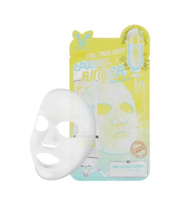 ELIZAVECCA Тканевая маска д/лица Чайное Дерево TEA TREE DEEP POWER Ringer 1 шт
