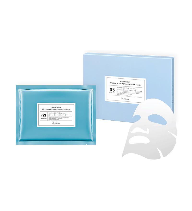 DR. ALTHEA Water Glow Aqua Ampoule Mask Маска для обличчя тканинна 17 амінокислот, 5 шт х 27 гр