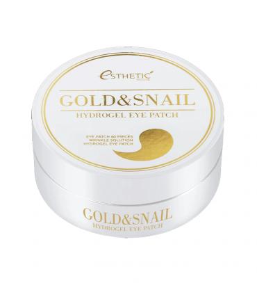 ESTHETIC HOUSE Gold & Snail Hydrogel Eye Patch Патчі під очі гідрогелеві Золото і муцин, 60 шт