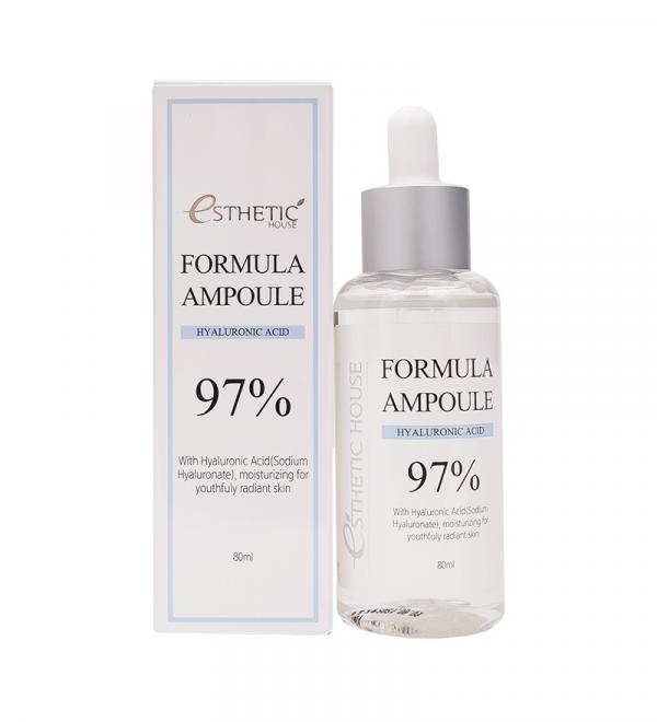 ESTHETIC HOUSE Formula Ampoule Hyaluronic Acid Сироватка для обличчя зволожувальна, 80 мл