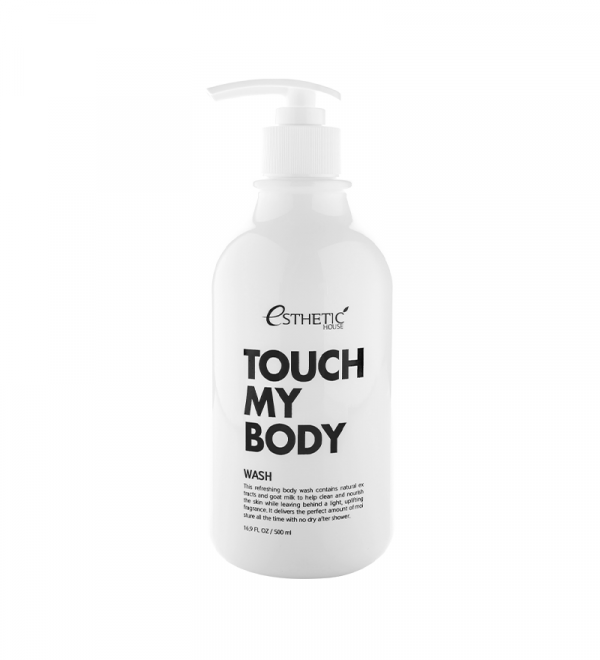 ESTHETIC HOUSE Touch My Body Goat Milk Body Wash Гель для душа на козячому молоці, 500 мл